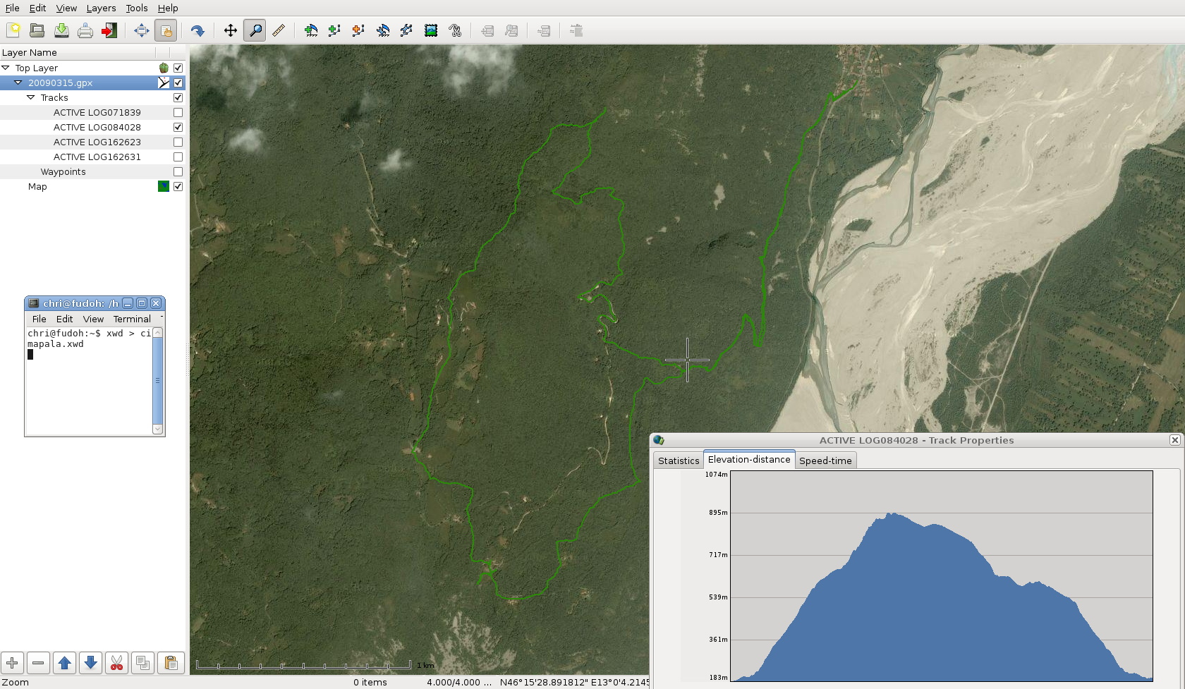 immagini georeferenziate da google earth